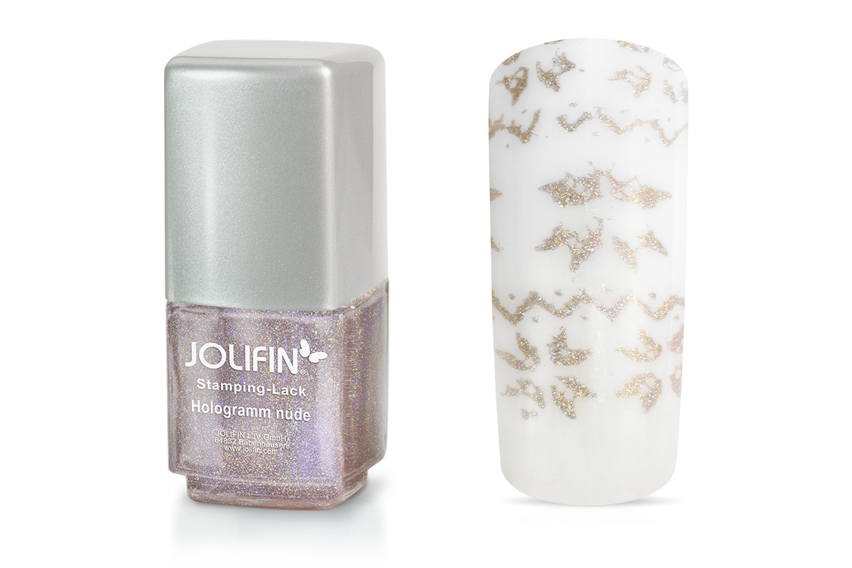 Jolifin Stamping-Lack - hologramm nude 12ml