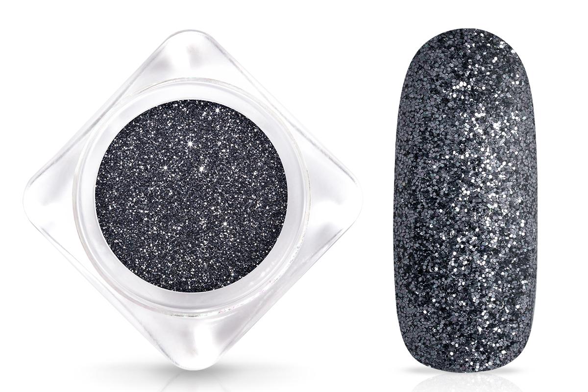 Jolifin Glitterpuder - silver grey