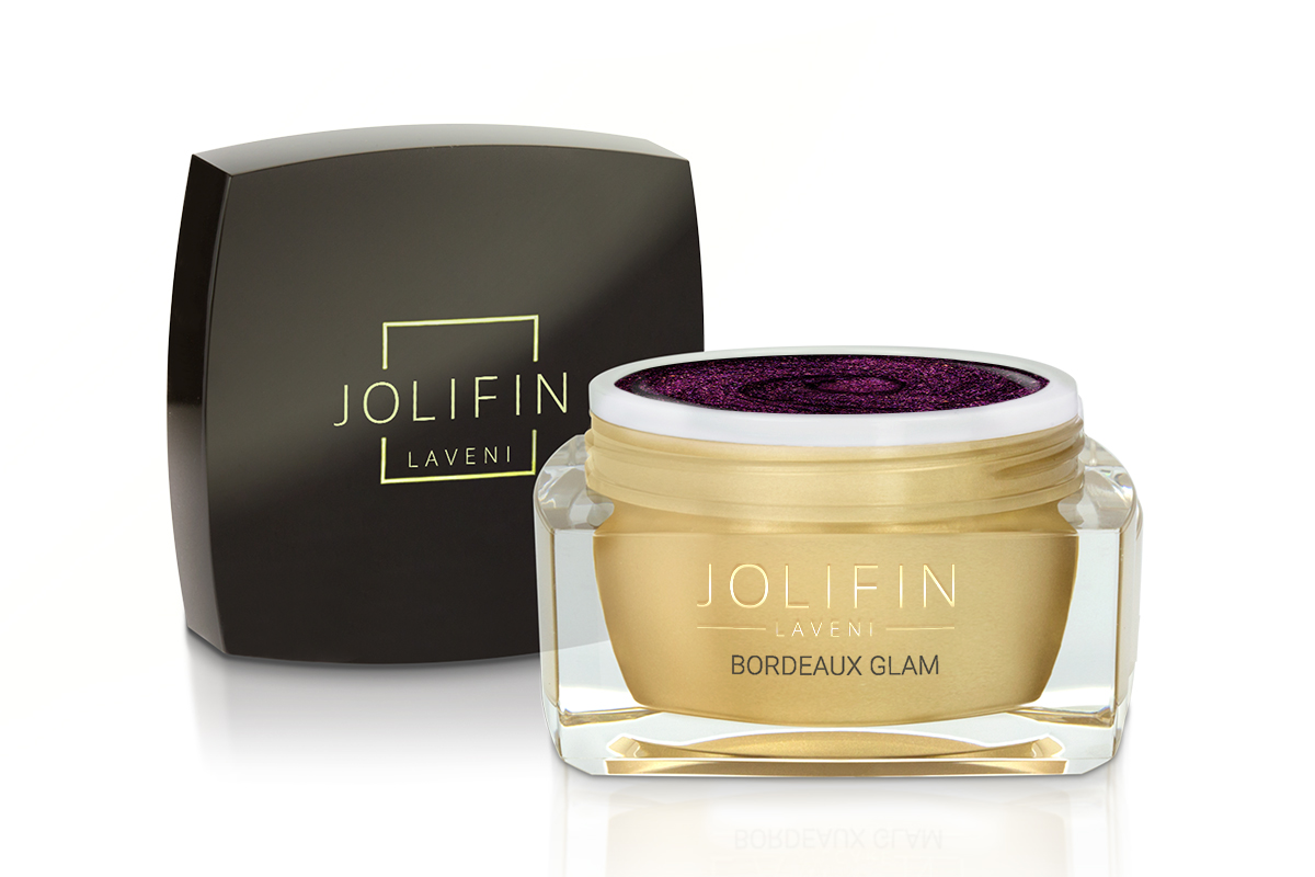 Jolifin LAVENI Farbgel - bordeaux glam 5ml