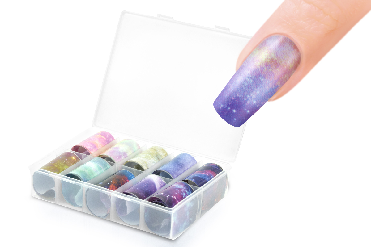 Jolifin Transfer-Nagelfolien Box - Galaxy