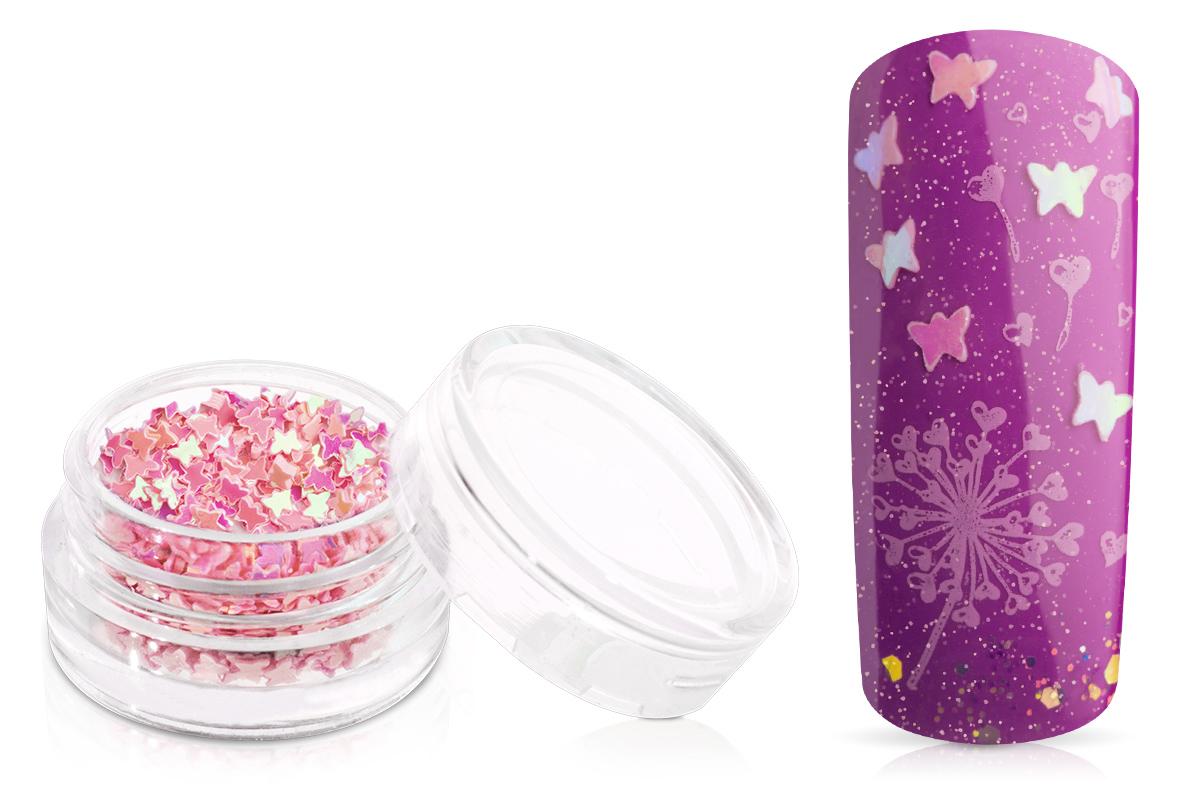Jolifin Glitter Butterfly rosa