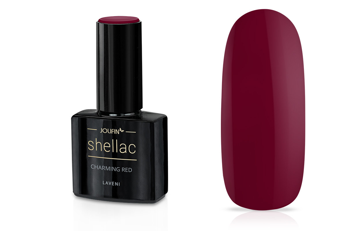 Jolifin LAVENI Shellac - charming red 12ml