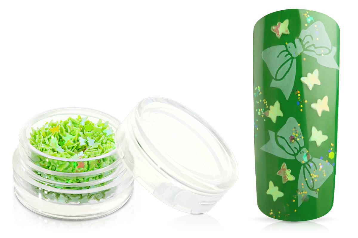 Jolifin Glitter Butterfly hellgrün