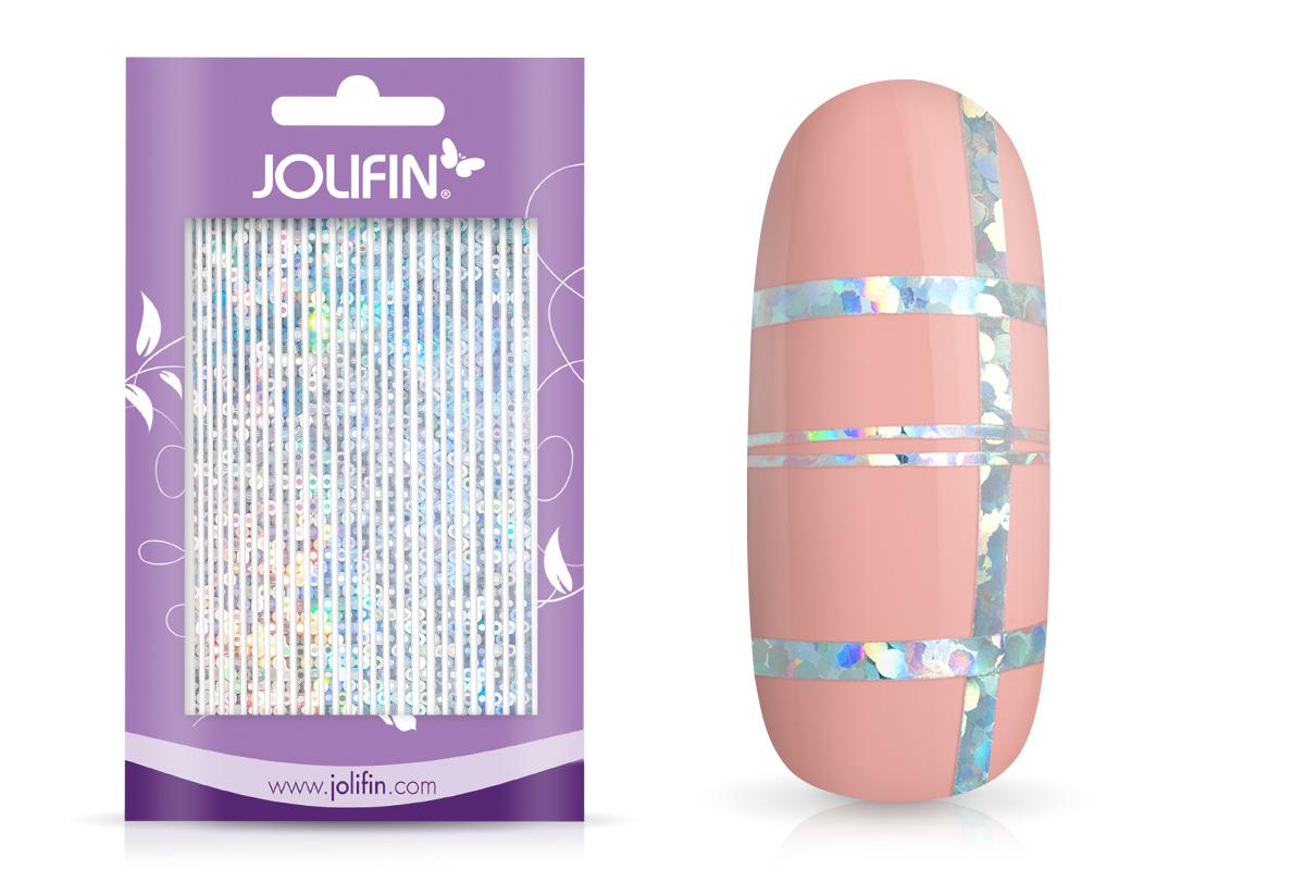 Jolifin Aurora Sticker - Stripes silver Galaxy