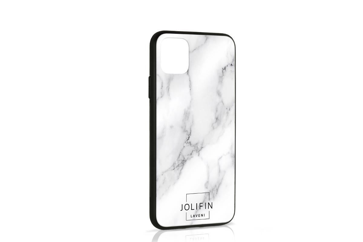 Jolifin LAVENI PRO Handyhülle Logo schwarz - iPhone 11