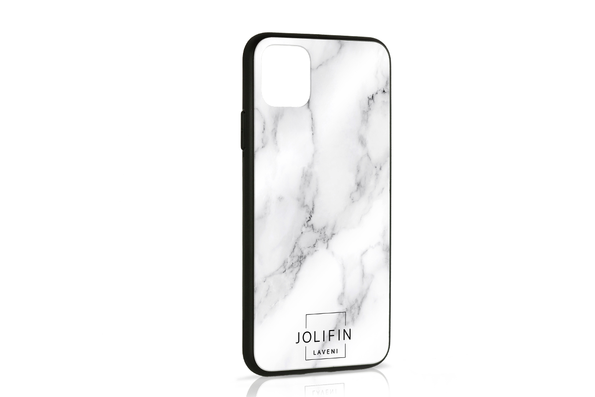 Jolifin LAVENI PRO Handyhülle Logo schwarz - iPhone 11 Pro Max
