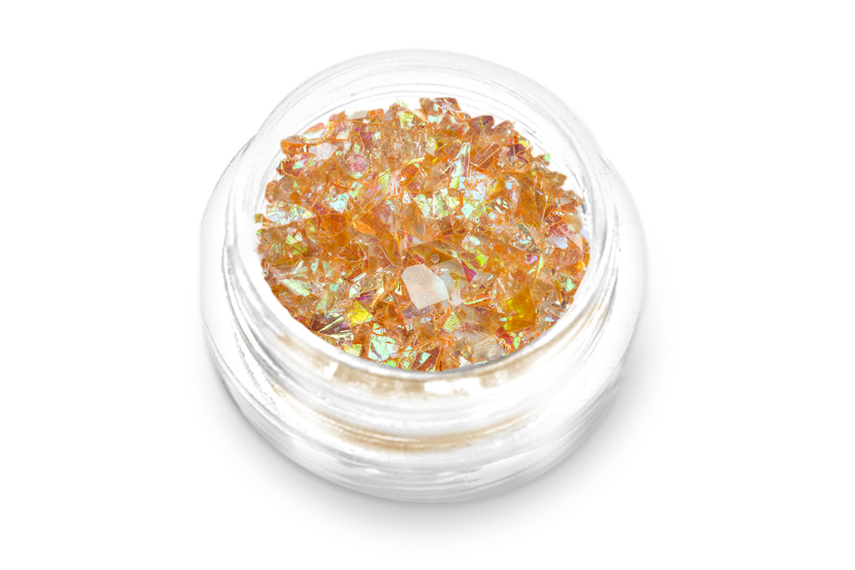 Jolifin Glitter Flakes orange