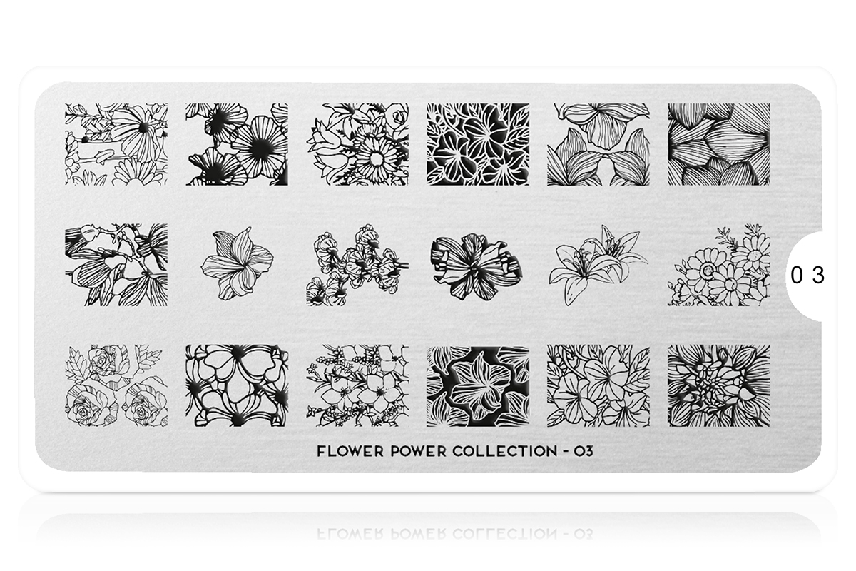 MoYou-London Schablone Flower Power Collection 03
