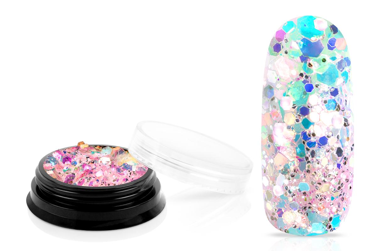Jolifin LAVENI Mermaid Glitter - pastell hibiscus