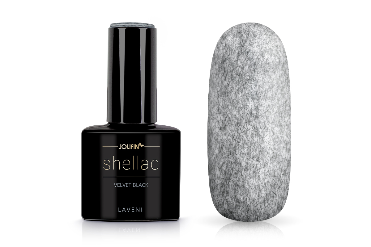 Jolifin LAVENI Shellac - velvet black 12ml