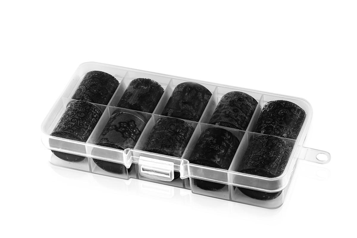 Jolifin Transfer-Nagelfolien Box - schwarz