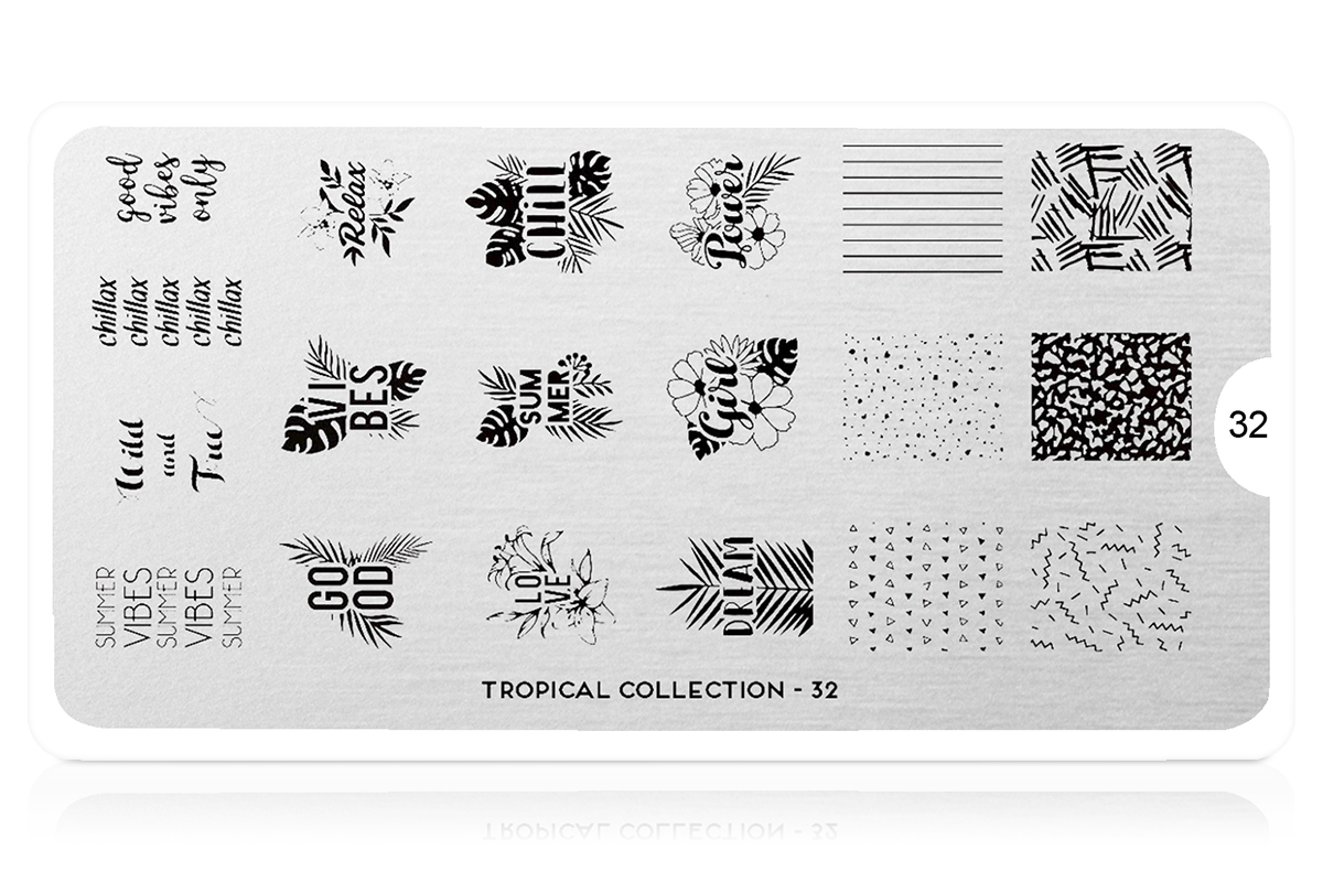 MoYou-London Schablone Tropical Collection 32