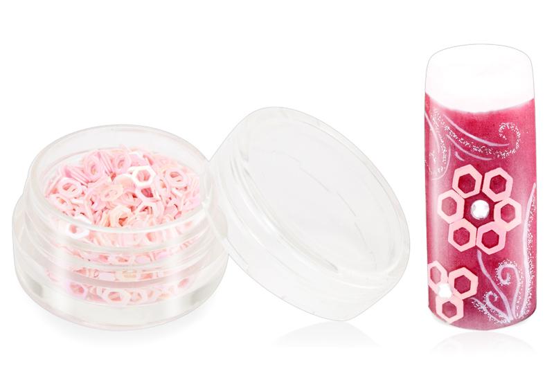 Jolifin Glitter Hexagon rosa