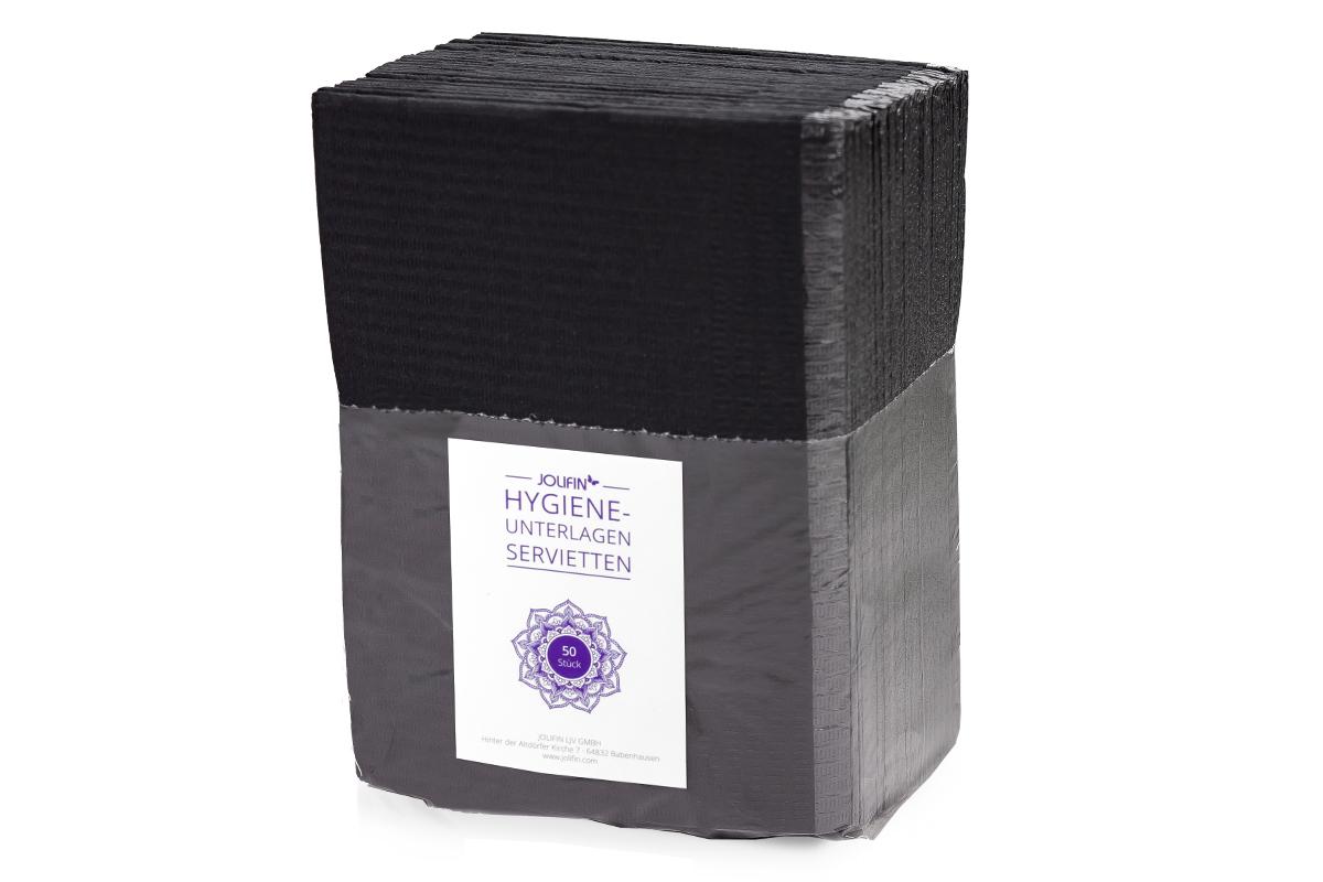 Jolifin Hygiene-Unterlagen - Servietten schwarz 50Stk.