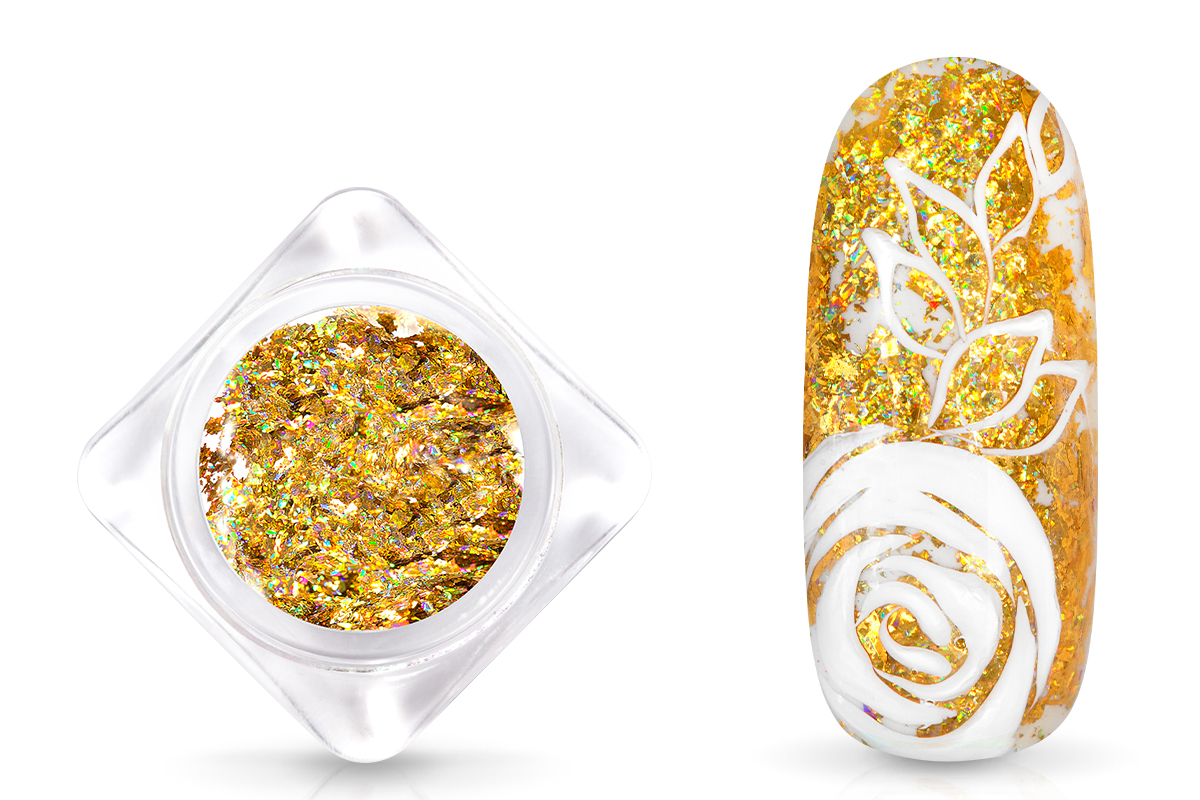 Jolifin Foil Flakes - Hologramm gold