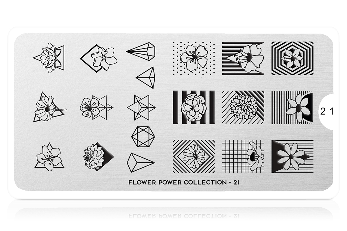 MoYou-London Schablone Flower Power Collection 21