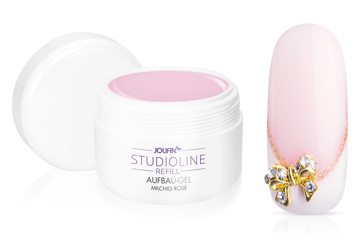Jolifin Studioline Refill - Aufbau-Gel milchig rosé 250ml
