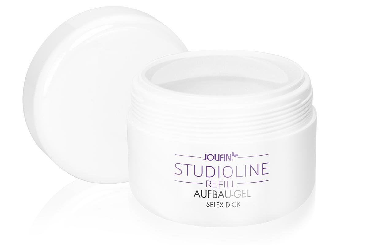 Jolifin Studioline Refill - Aufbau-Gel Selex dick 250ml