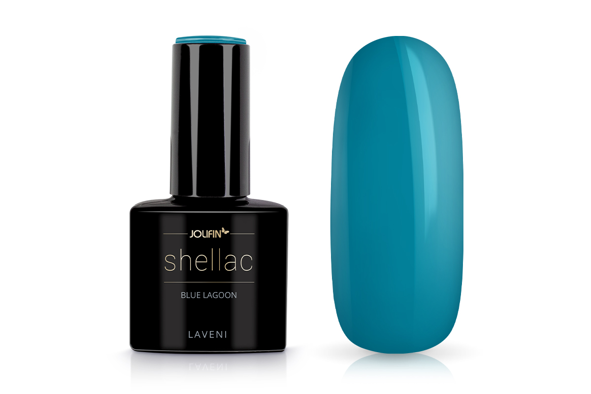 Jolifin LAVENI Shellac - blue lagoon 12ml