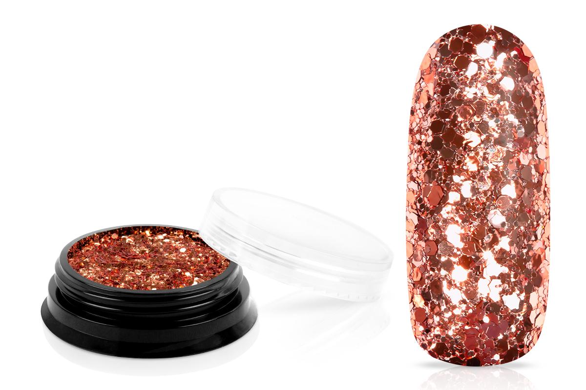 Jolifin LAVENI Sparkle Glitter - rosy-copper