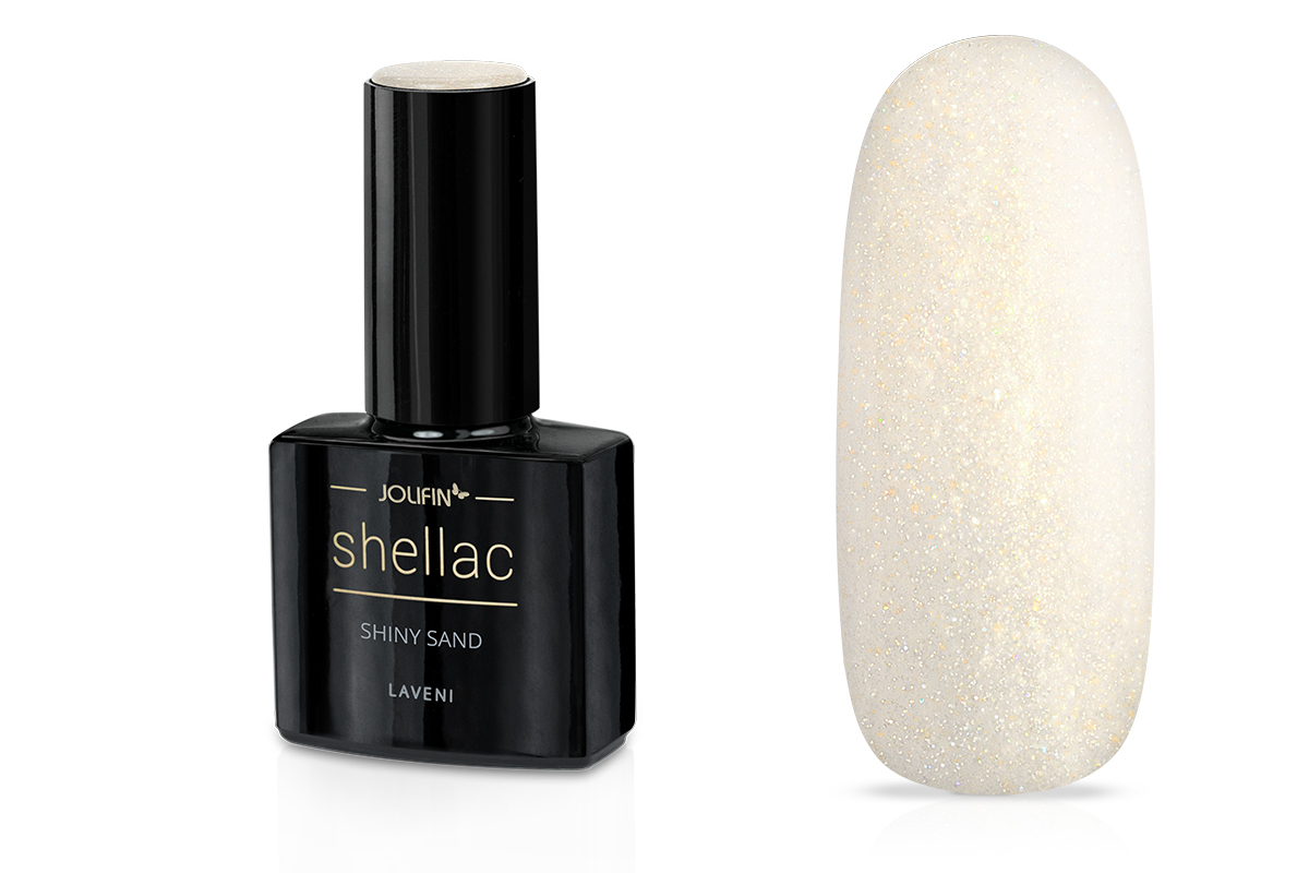 Jolifin LAVENI Shellac - shiny sand 12ml