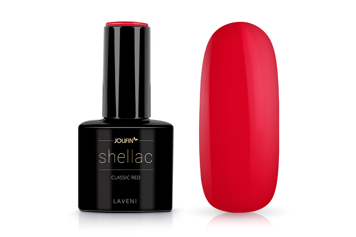 Jolifin LAVENI Shellac - classic red 12ml