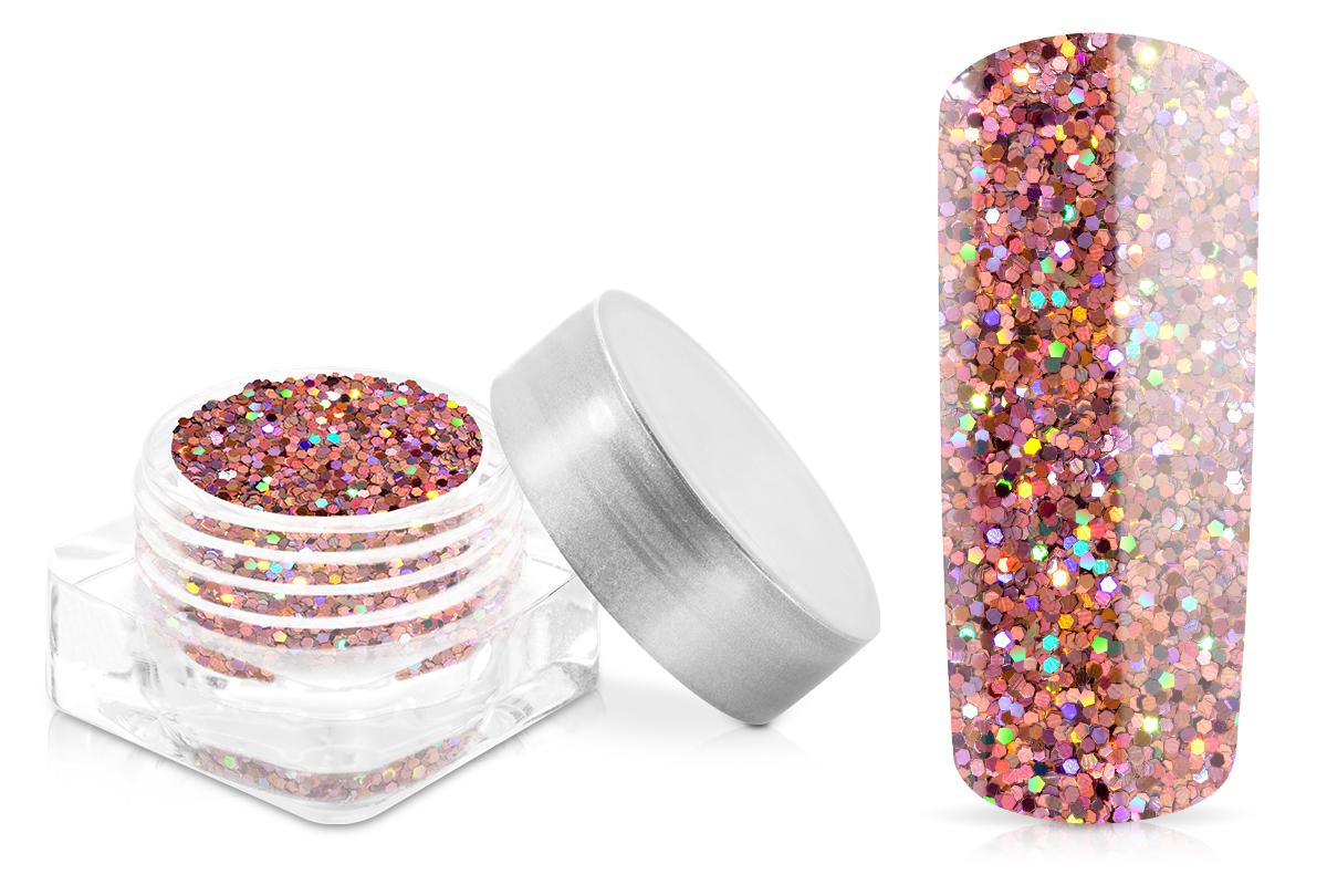 Jolifin Glitter Pailletten klein rosa