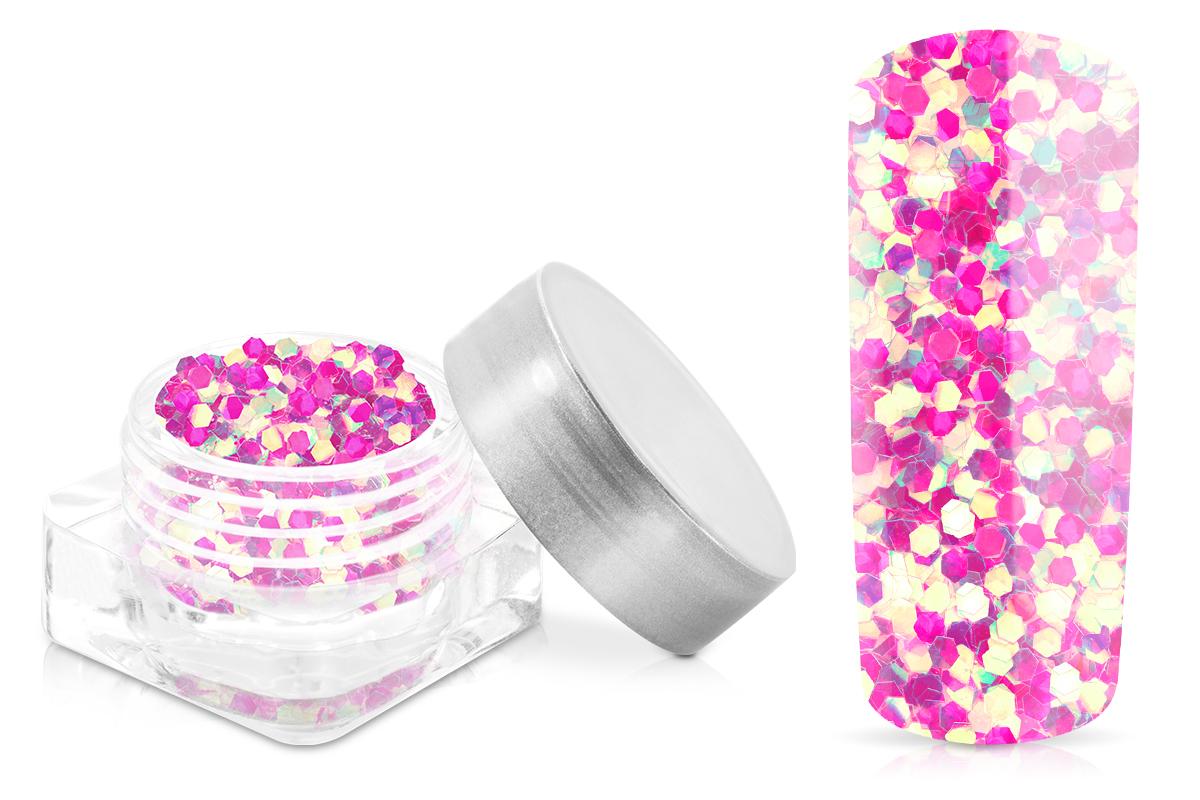 Jolifin Glitter Pailletten groß pink