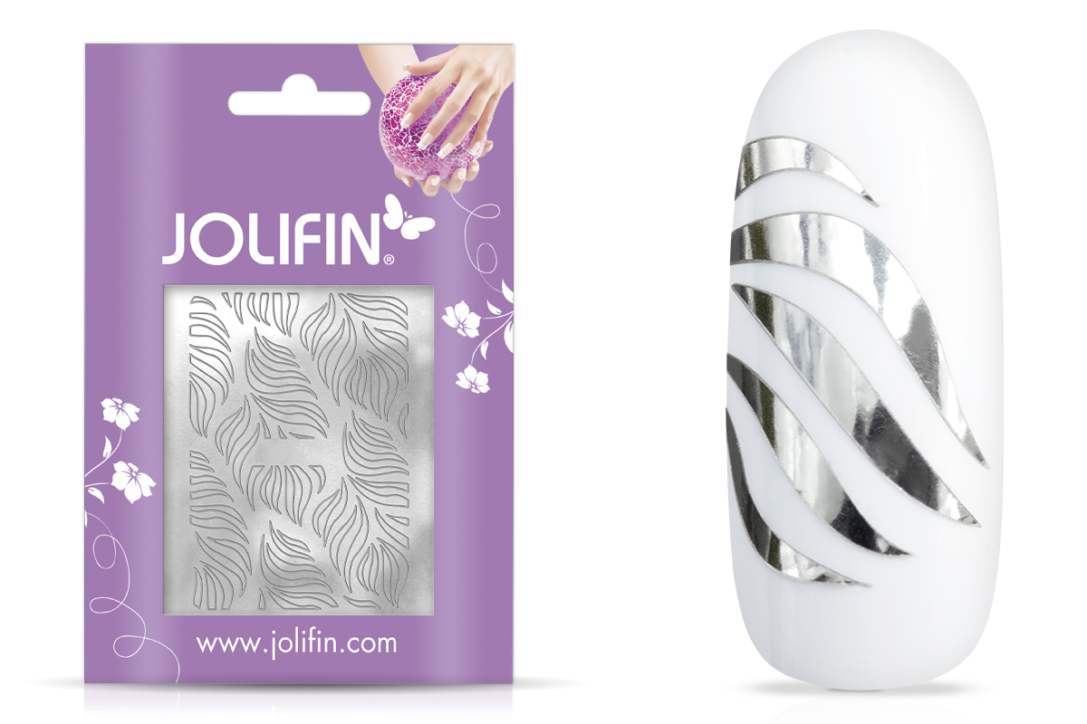 Jolifin Aurora Sticker - Waves silver chrome