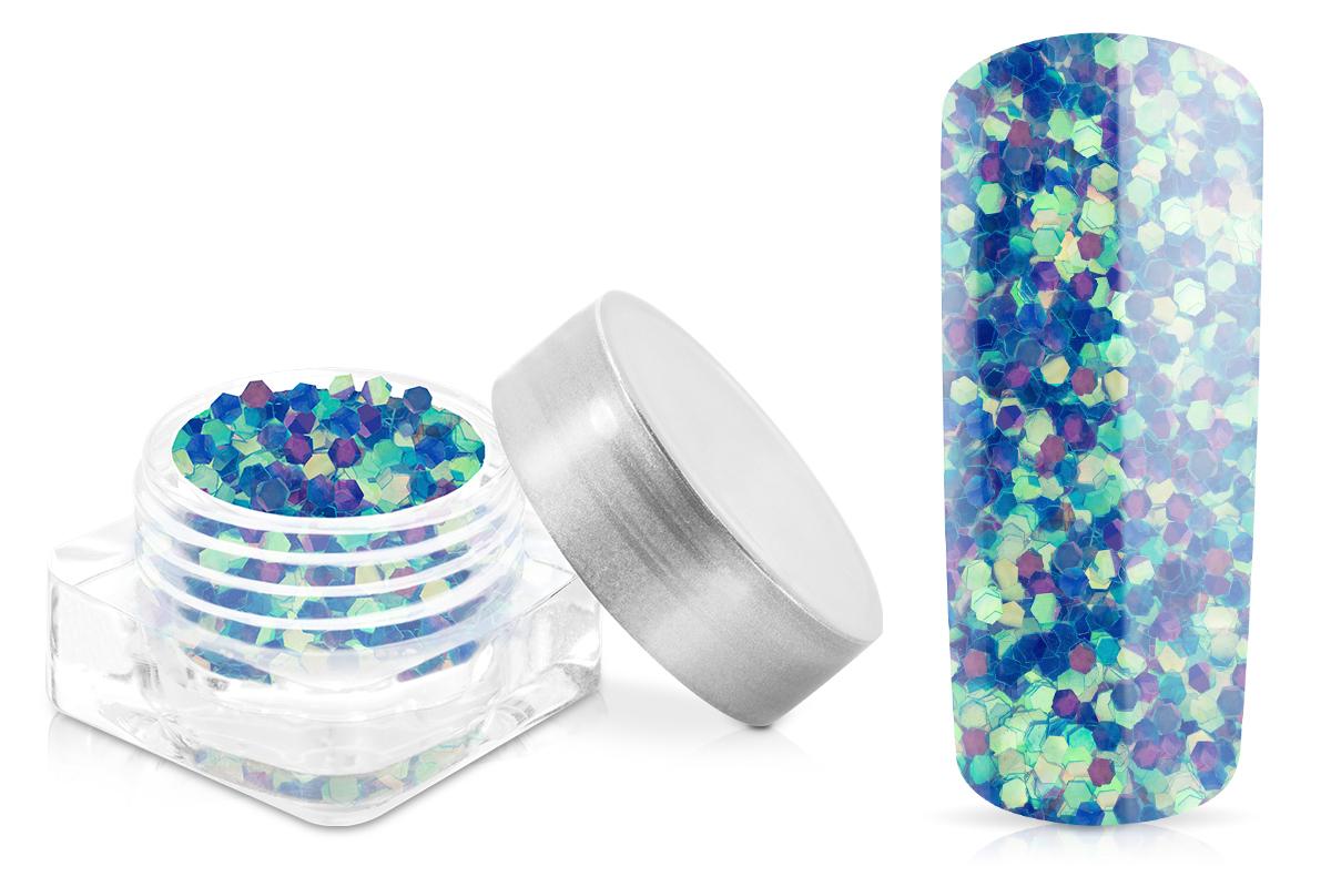 Jolifin Glitter Pailletten groß blau