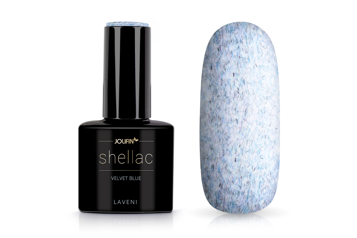 Jolifin LAVENI Shellac - velvet blue 12ml
