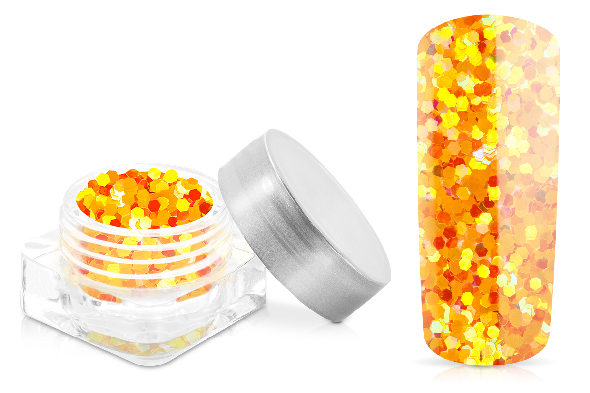 Jolifin Glitter Pailletten groß orange