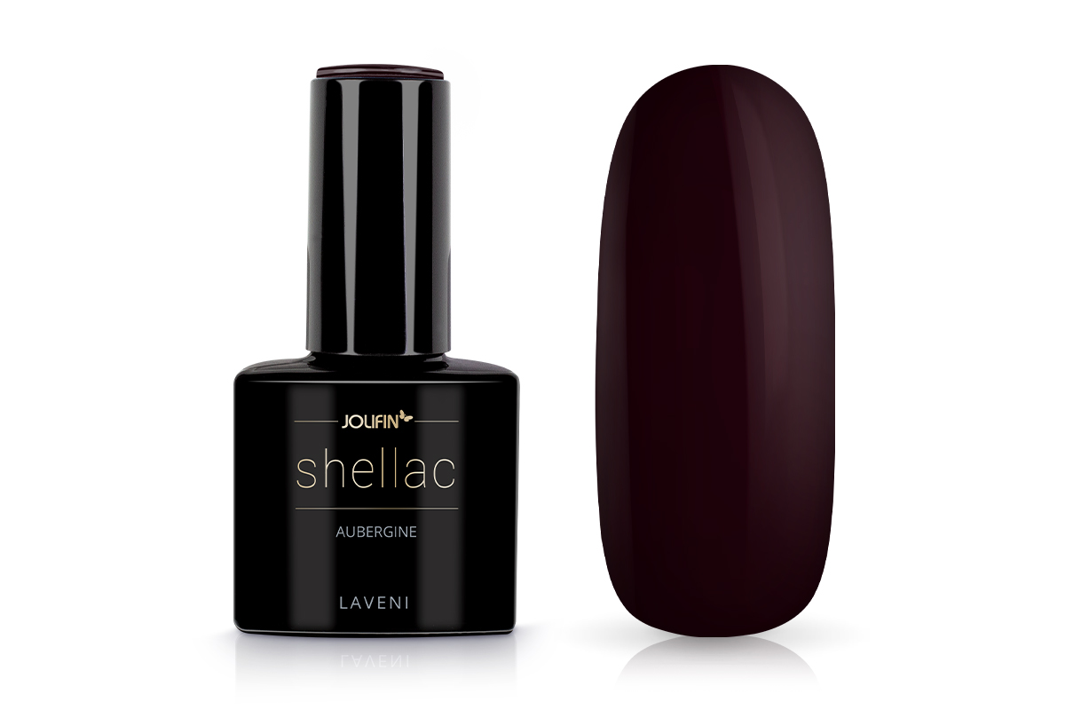 Jolifin LAVENI Shellac - aubergine 12ml