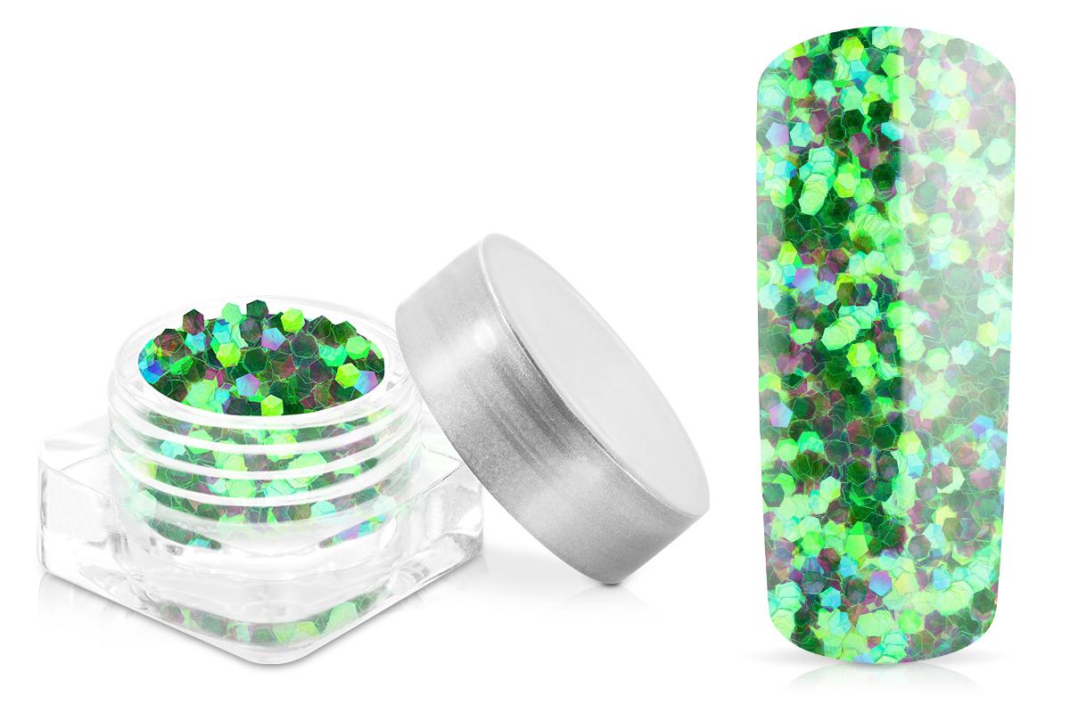 Jolifin Glitter Pailletten groß grün