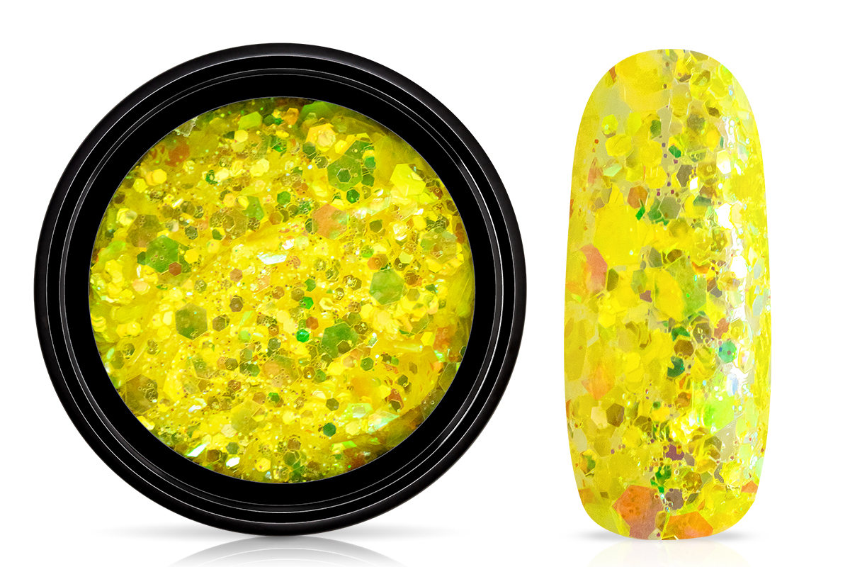 Jolifin LAVENI Mermaid Glitter - neon-yellow
