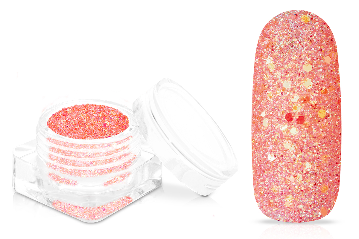 Jolifin Shiny Glitter - hot coral