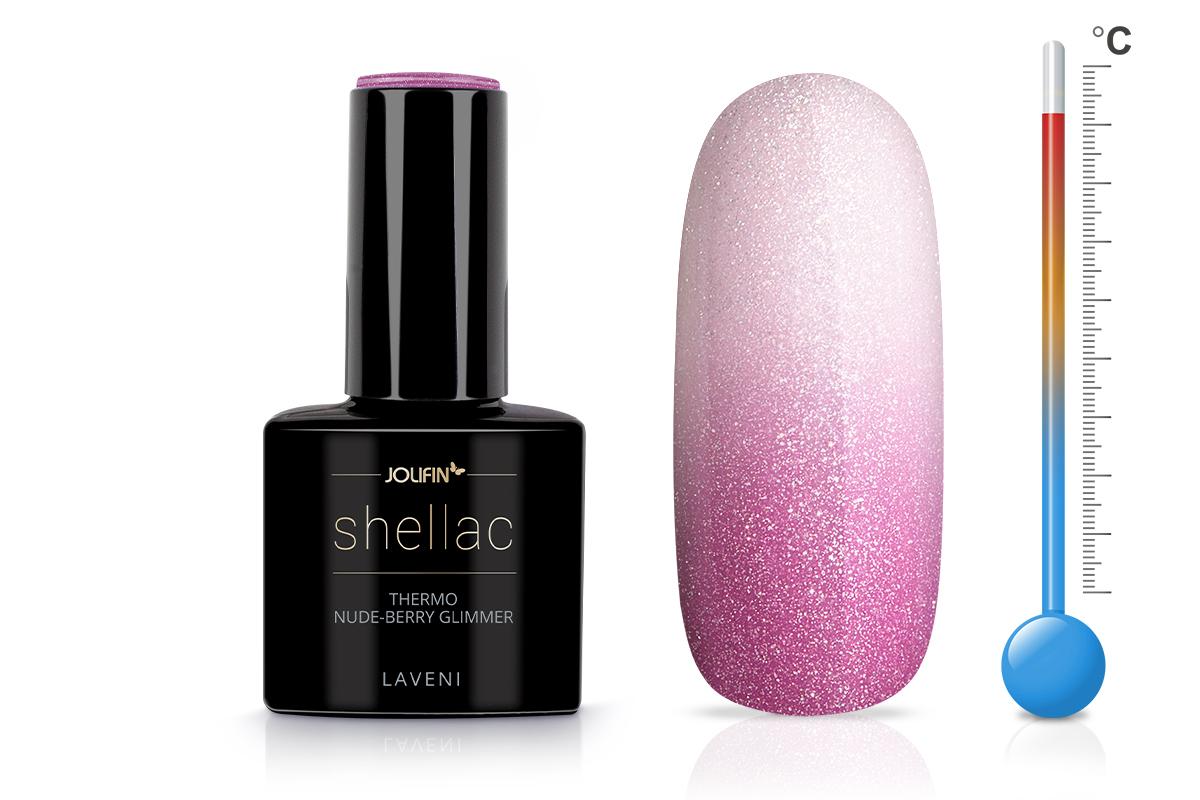 Jolifin LAVENI Shellac - Thermo nude-berry Glimmer 12ml