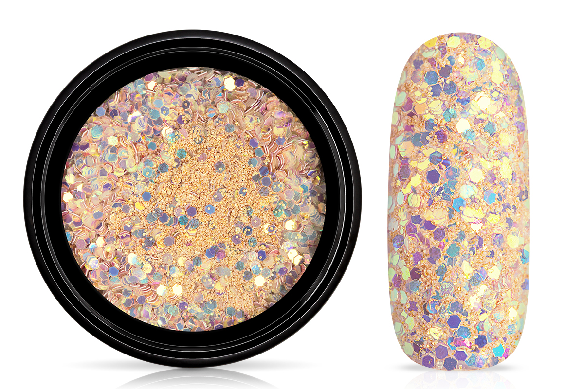 Jolifin LAVENI Mermaid Pastell Glitter - cream