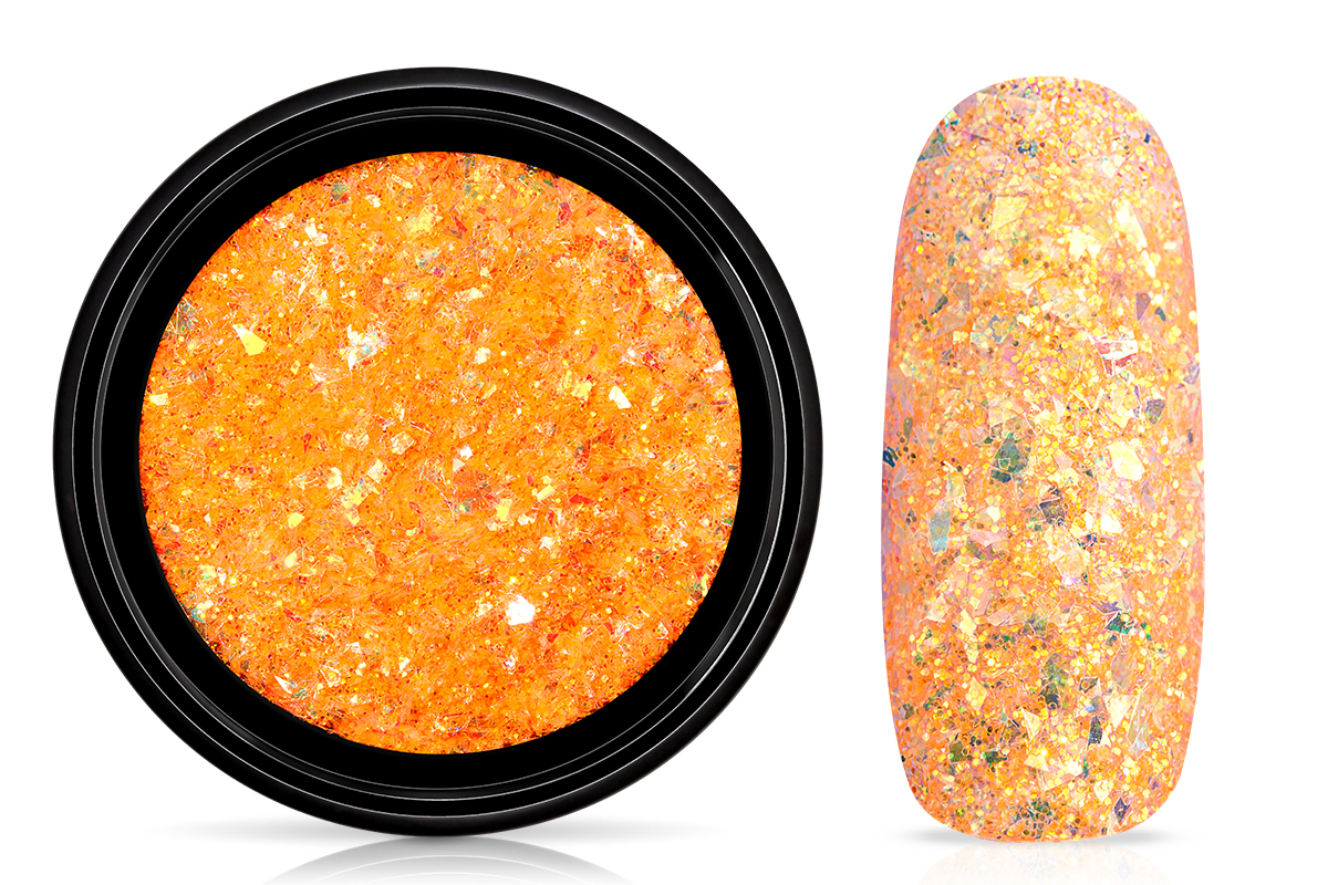 Jolifin LAVENI Mermaid Flakes Glitter - orange