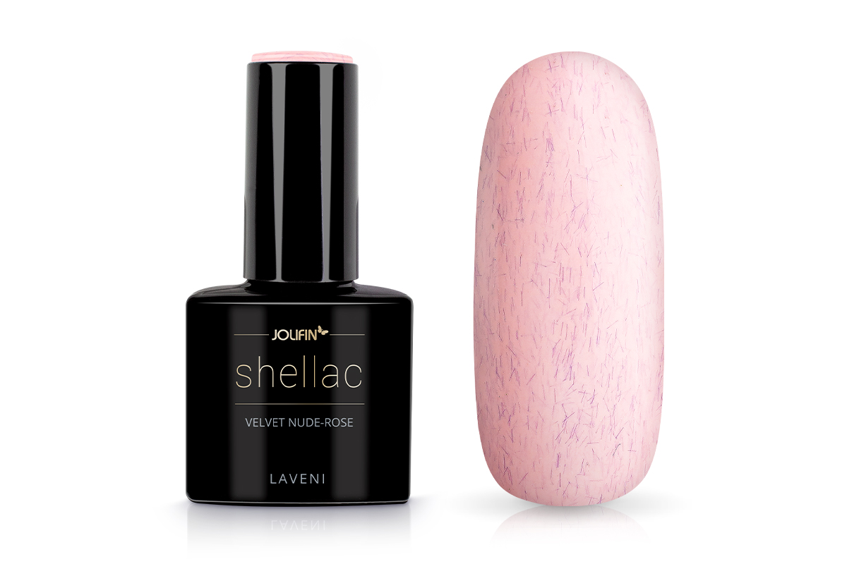 Jolifin LAVENI Shellac - velvet nude-rose 12ml