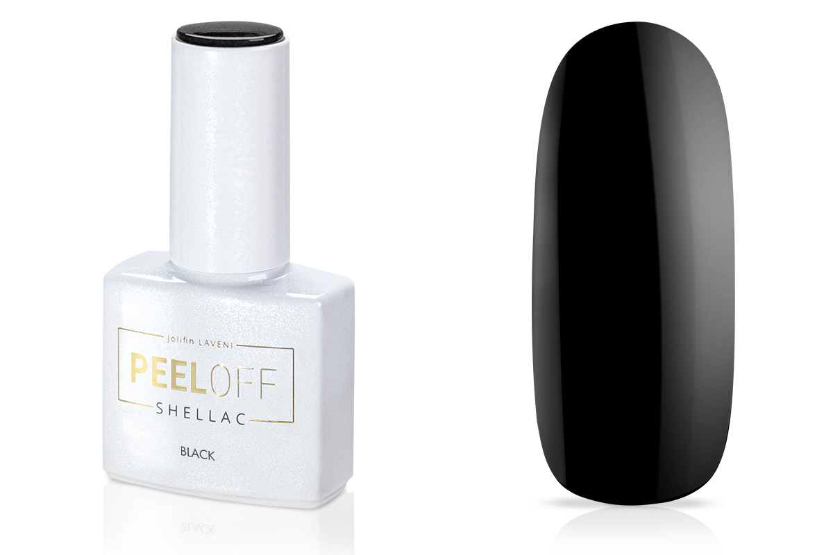 Jolifin LAVENI Shellac PeelOff - black 12ml
