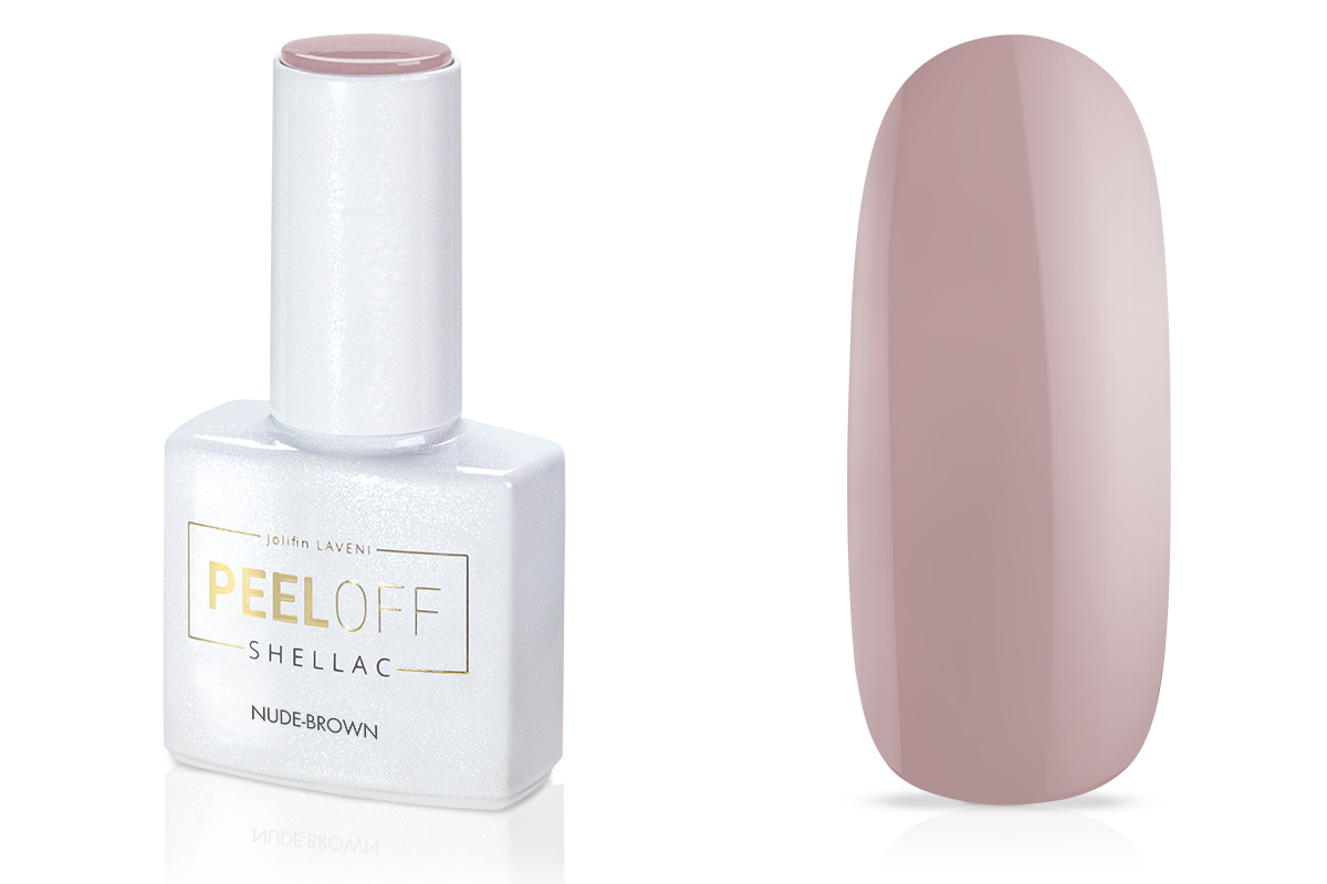 Jolifin LAVENI Shellac PeelOff - nude-brown 12ml