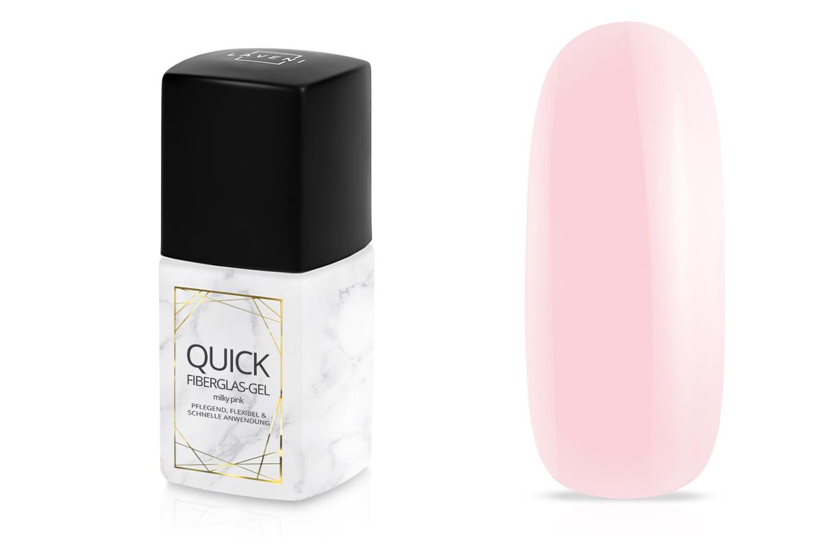 Jolifin LAVENI PRO - Quick Fiberglas-Gel milky pink 11ml