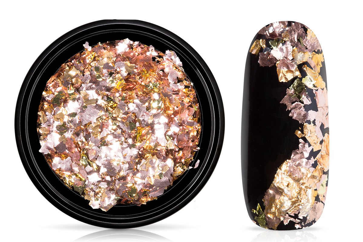 Jolifin Soft-Foil Flakes - gold-rose