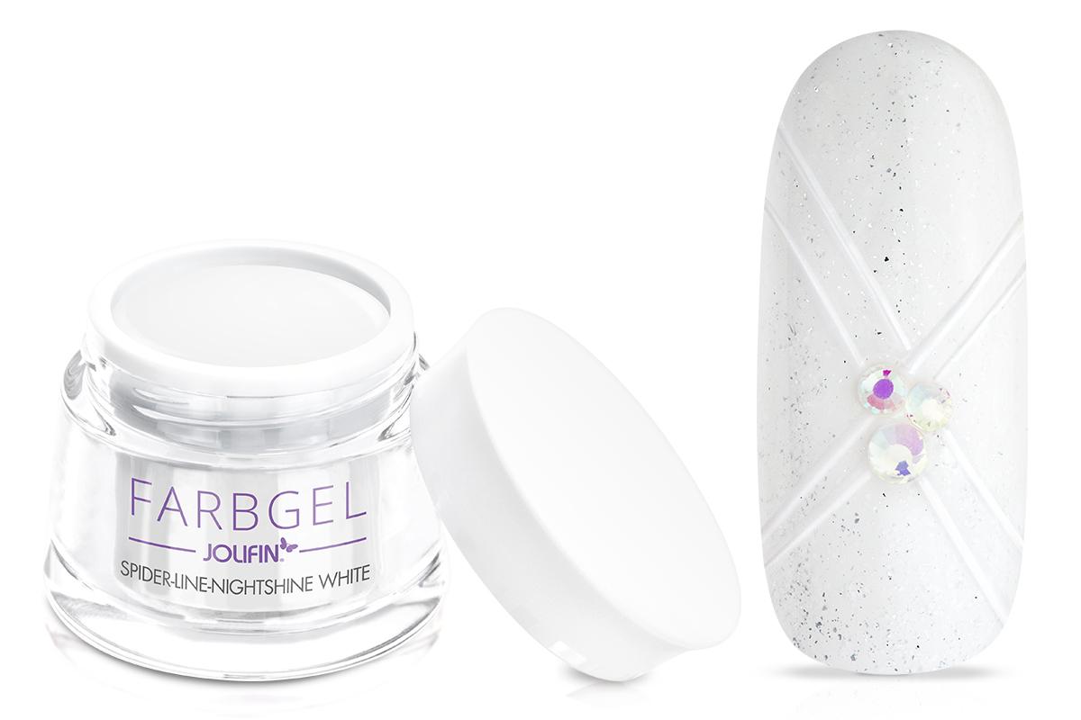 Jolifin Spider-Line Gel - Nightshine white 5ml