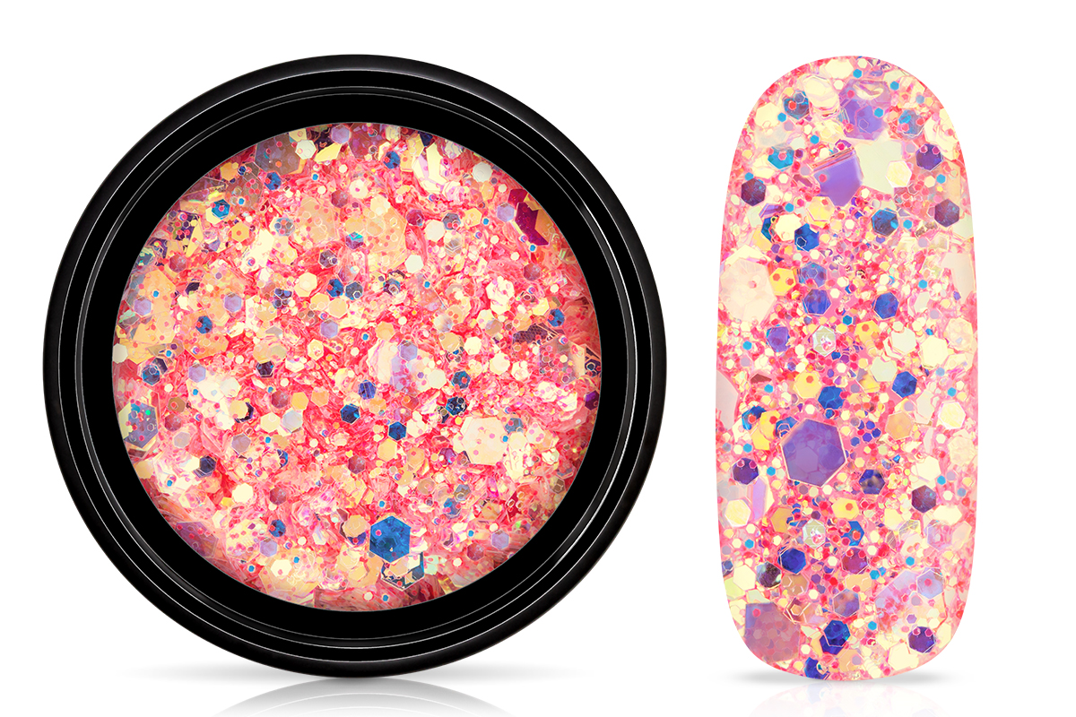 Jolifin LAVENI Mermaid Glitter - grapefruit