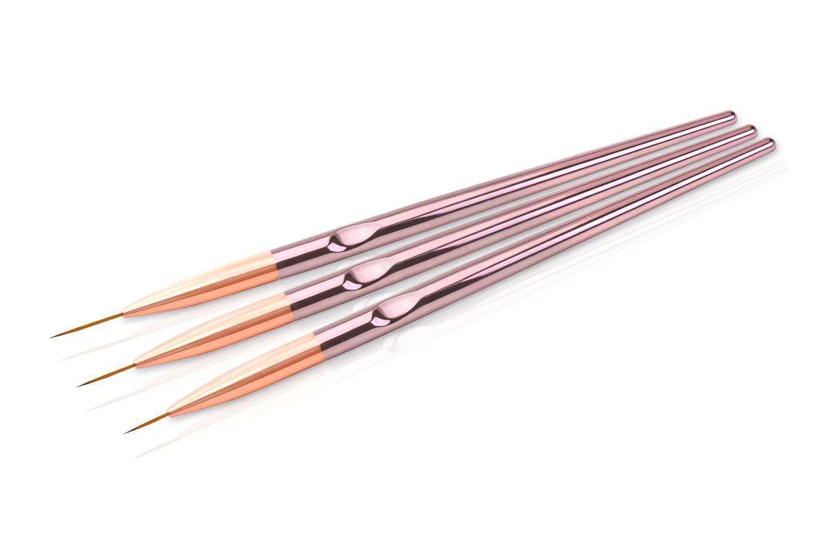 Jolifin Nailart Pinselset - Fineliner chrome pink