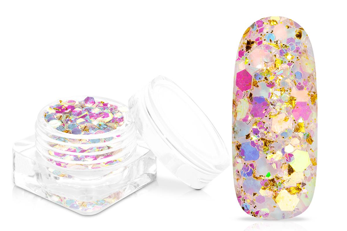 Jolifin Flakes & Glitter - golden pearl