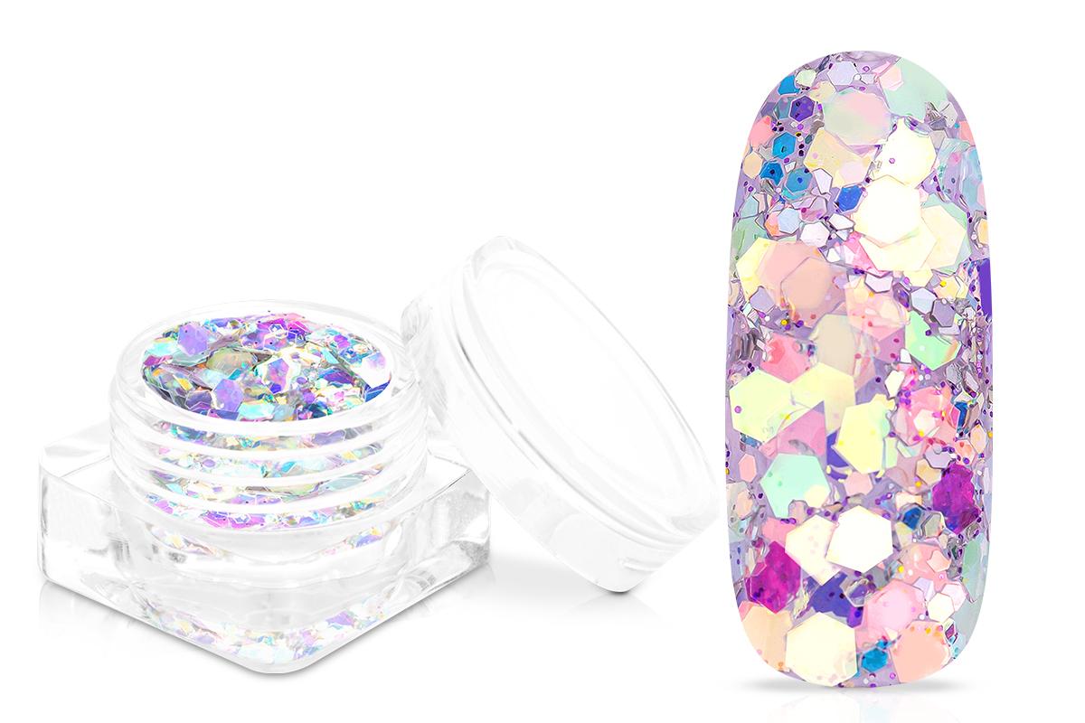 Jolifin Flakes & Glitter - lavender blossom