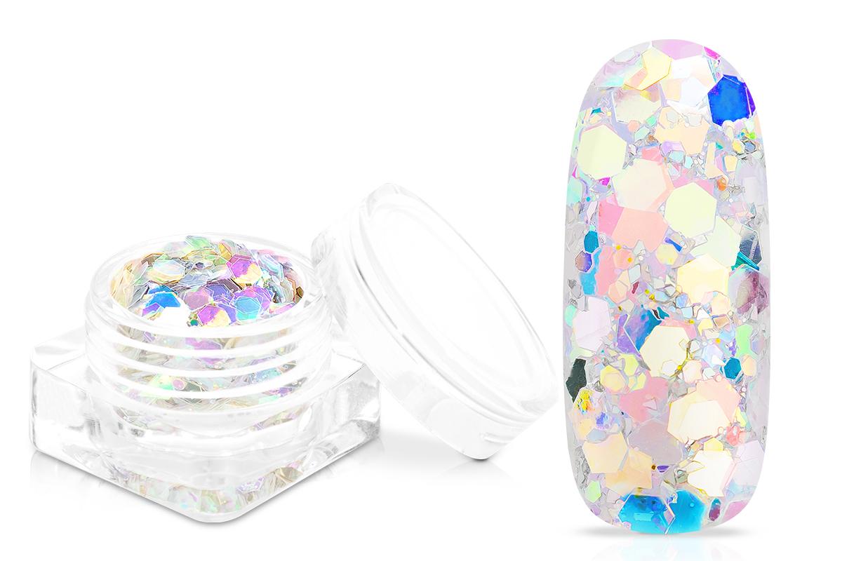 Jolifin Flakes & Glitter - silver unicorn